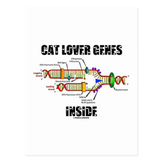 Cat Lover Genes Inside DNA Replication Post Cards
