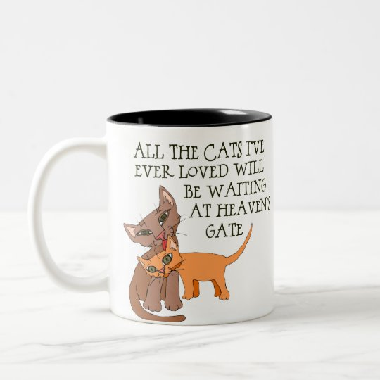Cat Lover Gift Two-Tone Coffee Mug