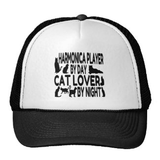 Cat Lover Harmonica Player Cap