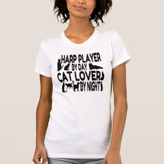 Cat Lover Harp Player T Shirts