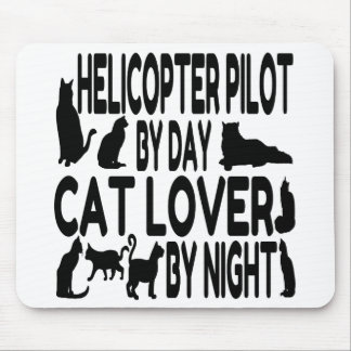 Cat Lover Helicopter Pilot Mouse Mat