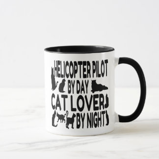 Cat Lover Helicopter Pilot Mug