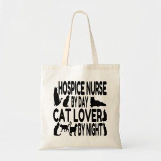 Cat Lover Hospice Nurse Tote Bag