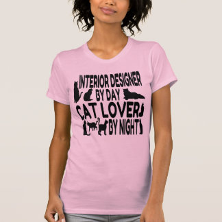 Cat Lover Interior Designer T-Shirt