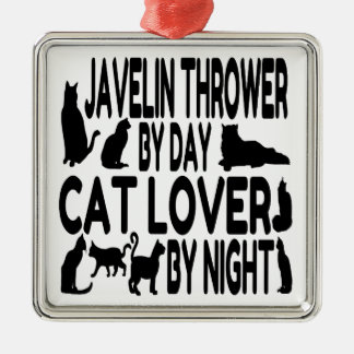 Cat Lover Javelin Thrower Christmas Ornament