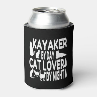 Cat Lover Kayaker Can Cooler