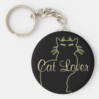 Cat Lover Keychain Cat Key Chains Customizable
