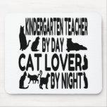 Cat Lover Kindergarten Teacher Mouse Pad