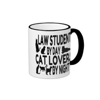 Cat Lover Law Student Ringer Mug