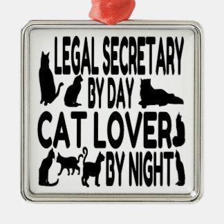 Cat Lover Legal Secretary Christmas Ornament