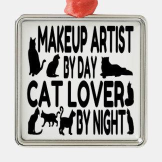 Cat Lover Makeup Artist Christmas Ornament