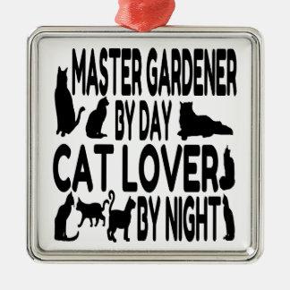 Cat Lover Master Gardener Christmas Ornament