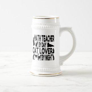 Cat Lover Math Teacher Beer Steins