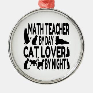 Cat Lover Math Teacher Christmas Ornament