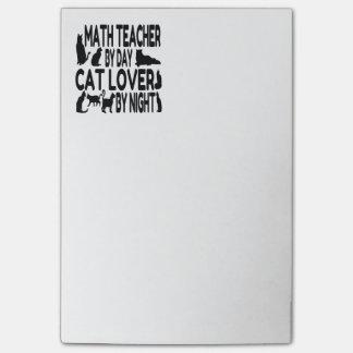 Cat Lover Math Teacher Post-it® Notes