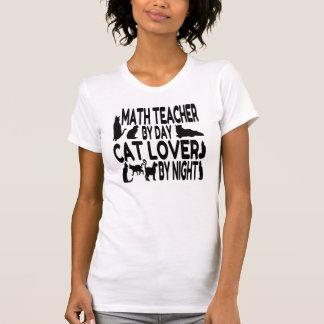 Cat Lover Math Teacher Shirts