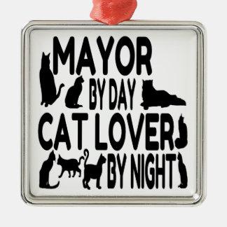 Cat Lover Mayor Christmas Ornament