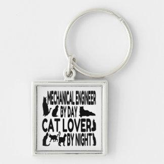 Cat Lover Mechanical Engineer Key Ring