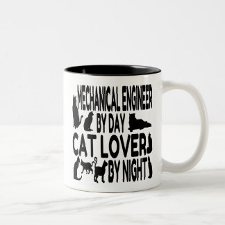 Cat Lover Mechanical Engineer Two-Tone Coffee Mug