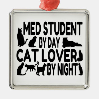 Cat Lover Med Student Christmas Ornament