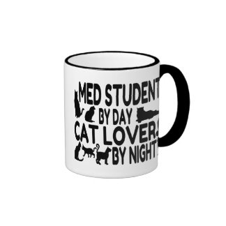 Cat Lover Med Student Ringer Coffee Mug