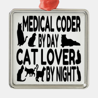 Cat Lover Medical Coder Christmas Ornament