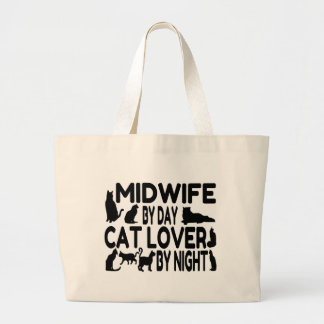 Cat Lover Midwife Canvas Bags