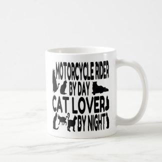 Cat Lover Motorcycle Rider Basic White Mug
