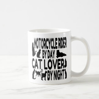 Cat Lover Motorcycle Rider Coffee Mug