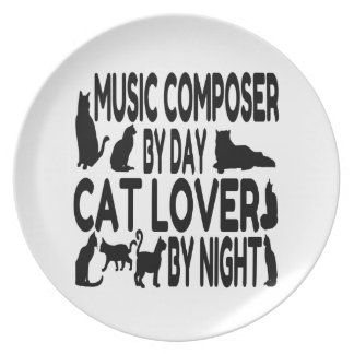 Cat Lover Music Composer Plate