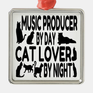 Cat Lover Music Producer Christmas Ornament