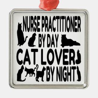 Cat Lover Nurse Practitioner Christmas Ornament