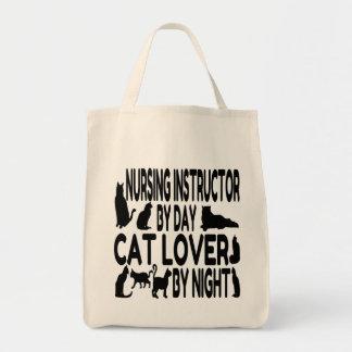 Cat Lover Nursing Instructor Grocery Tote Bag