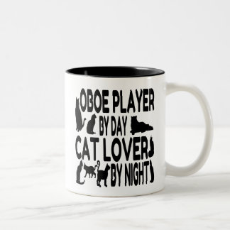 Cat Lover Oboe Player Two-Tone Coffee Mug