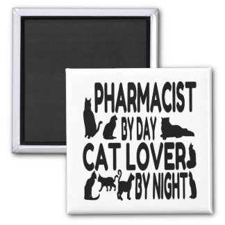 Cat Lover Pharmacist Magnet