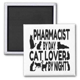 Cat Lover Pharmacist Square Magnet