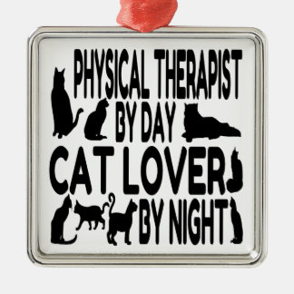 Cat Lover Physical Therapist Christmas Ornament