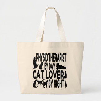 Cat Lover Physiotherapist Large Tote Bag