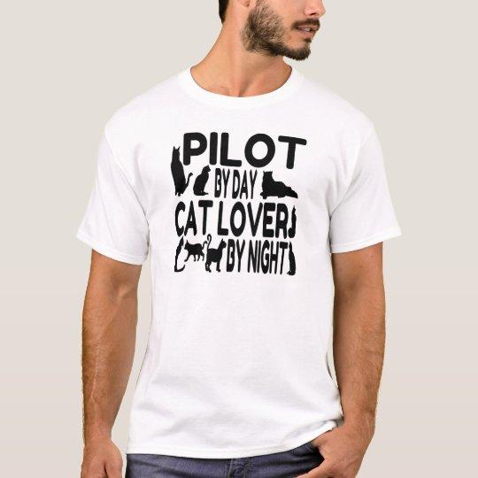 Cat Lover Pilot T-Shirt