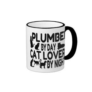 Cat Lover Plumber Mugs