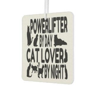Cat Lover Powerlifter Car Air Freshener
