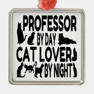 Cat Lover Professor Christmas Ornament