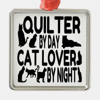 Cat Lover Quilter Christmas Ornament