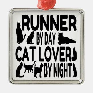 Cat Lover Runner Christmas Ornament