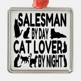 Cat Lover Salesman Christmas Ornament