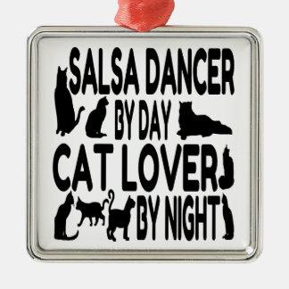 Cat Lover Salsa Dancer Christmas Ornament