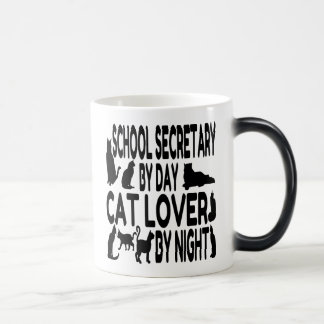Cat Lover School Secretary Magic Mug