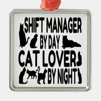 Cat Lover Shift Manager Christmas Ornament