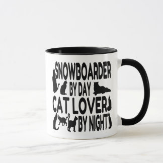 Cat Lover Snowboarder Mug
