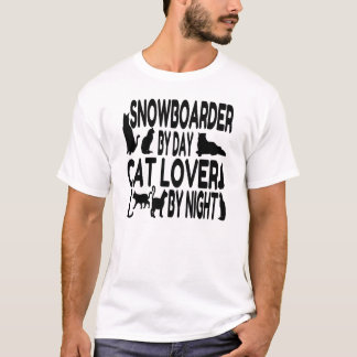 Cat Lover Snowboarder T-Shirt